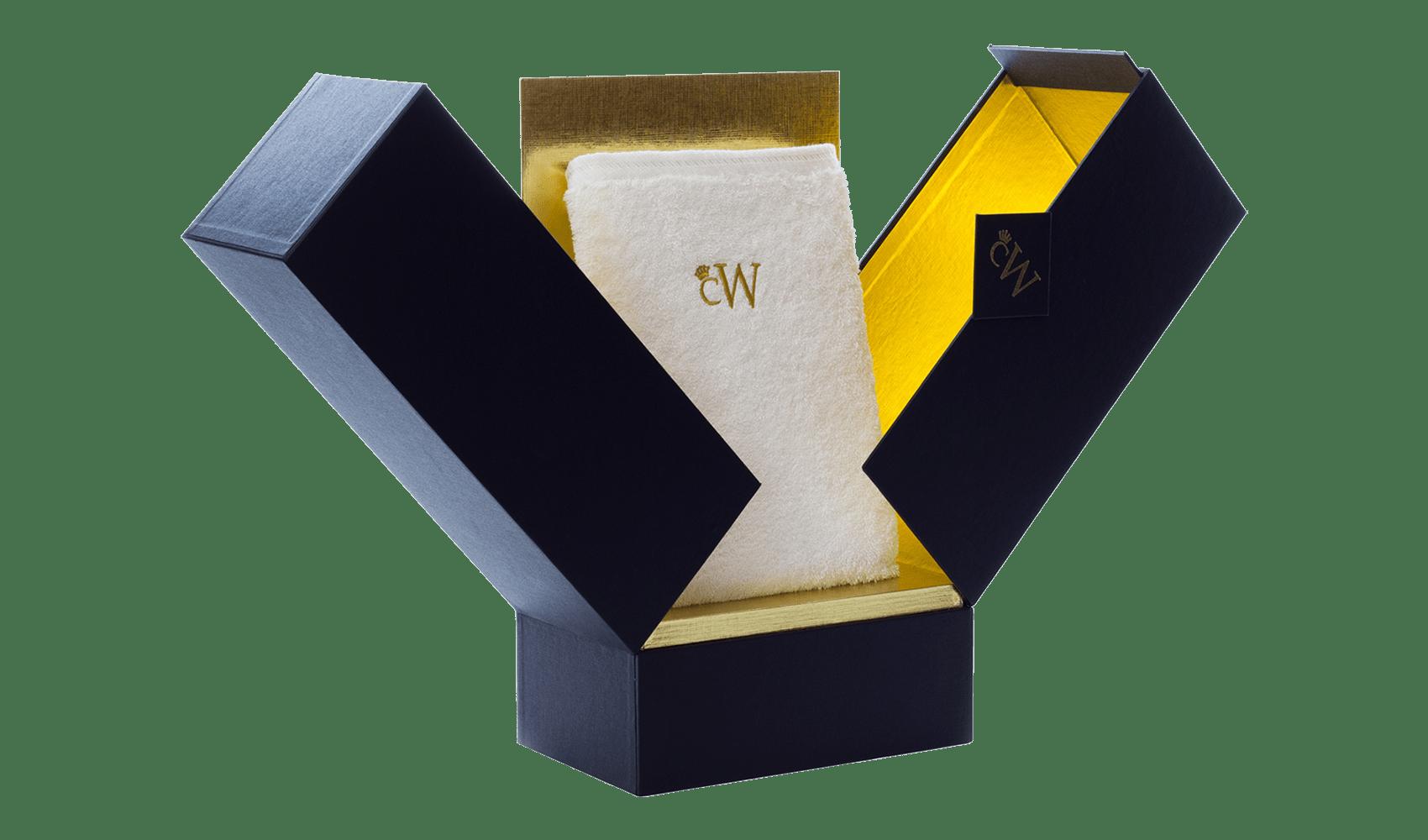 Handtuch - weiß mit BOX