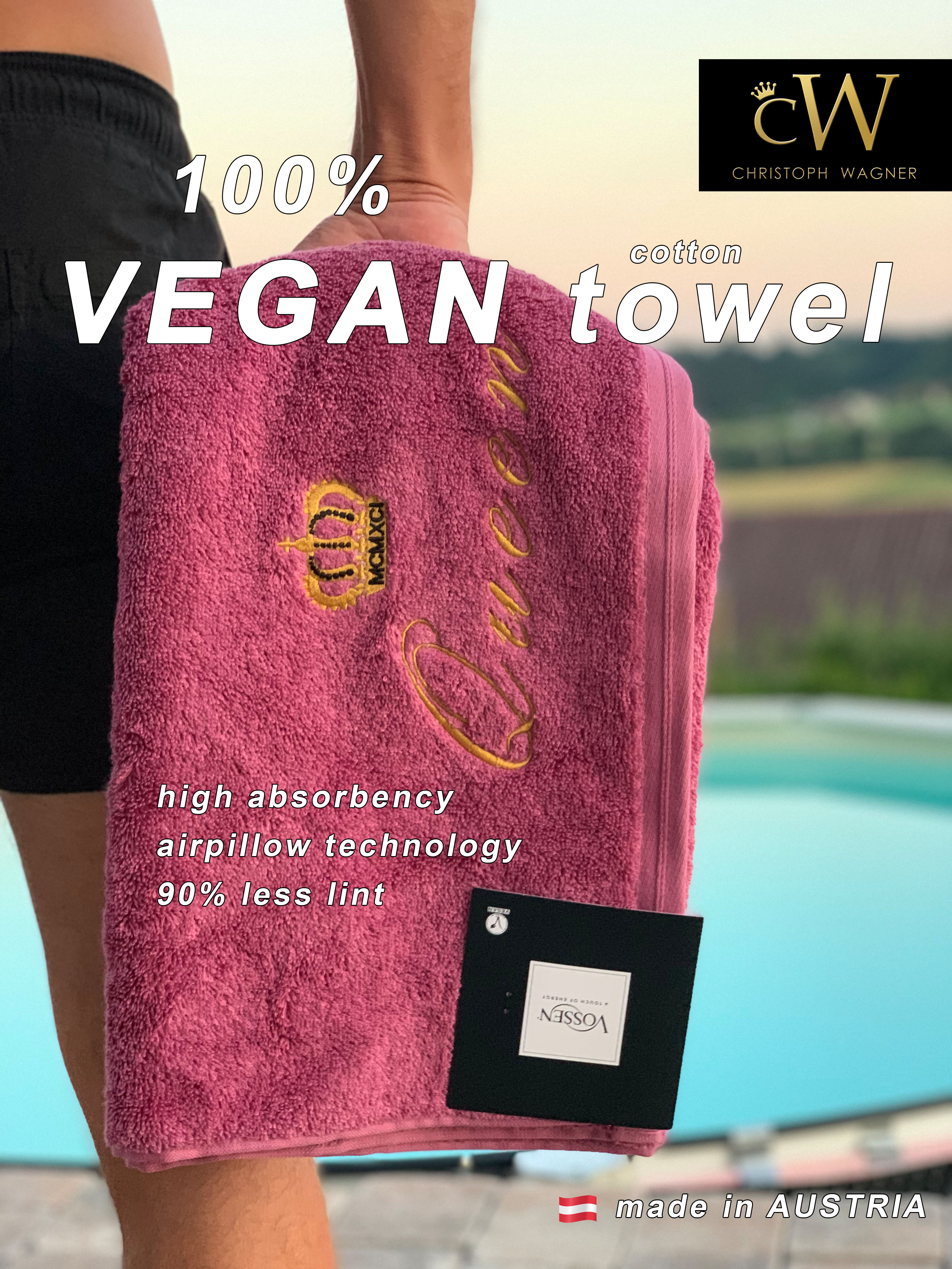 vegan towel pink cover